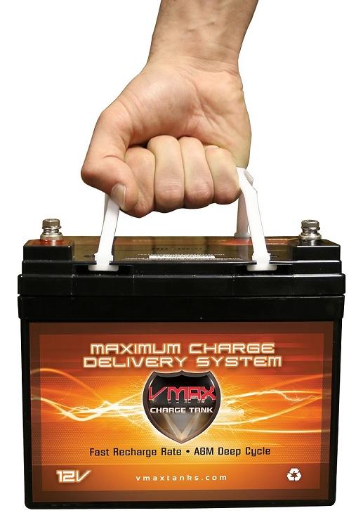 Vmax V35 857 12 Volt 35ah Agm Deep Cycle Hi Performance U1
